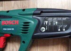 Перфоратор Bosch PBH 2800 RE, режимы